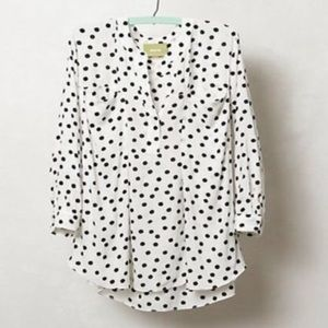 Anthropologie • Spotted Brunia Henley